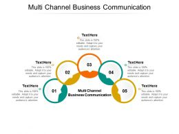 Multi Channel Business Communication Ppt Powerpoint Presentation Outline Layouts Cpb