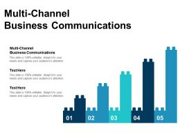 Multi Channel Business Communications Ppt Powerpoint Presentation Slides Background Cpb