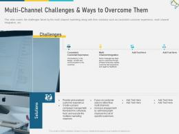 Multi Channel Challenges Ways To Overcome Them Management W5 Ppt Infographics