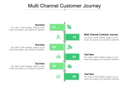 Multi Channel Customer Journey Ppt Powerpoint Presentation Pictures Smartart Cpb