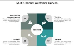 Multi Channel Customer Service Ppt Powerpoint Presentation Infographic Template Gridlines Cpb