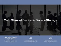 Multi Channel Customer Service Strategy Ppt Powerpoint Presentation Outline Slides Cpb