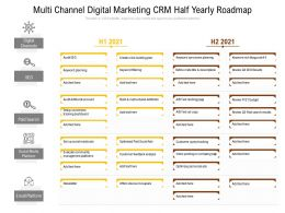 Multi Channel Digital Marketing CRM Half Yearly Roadmap