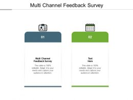 Multi Channel Feedback Survey Ppt Powerpoint Presentation Gallery Samples Cpb