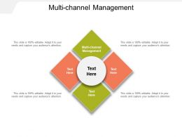 Multi Channel Management Ppt Powerpoint Presentation Ideas Brochure Cpb