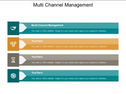 Multi Channel Management Ppt Powerpoint Presentation Infographics Icons Cpb