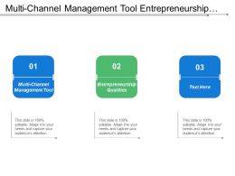 Multi Channel Management Tool Entrepreneurship Qualities Sales Plan