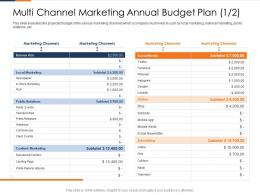 Multi Channel Marketing Annual Budget Plan Marketing Ppt Fusion Marketing Experience Ppt Rule
