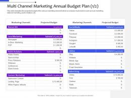 Multi Channel Marketing Annual Budget Plan Projected Budget Distribution Management System Ppt Ideas