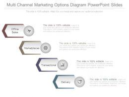 Multi Channel Marketing Options Diagram Powerpoint Slides