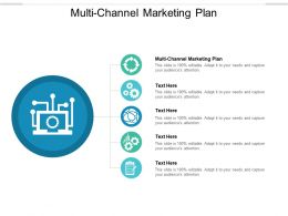 Multi Channel Marketing Plan Ppt Powerpoint Presentation Model Graphics Pictures Cpb
