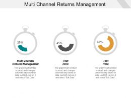 Multi Channel Returns Management Ppt Powerpoint Presentation Portfolio Show Cpb