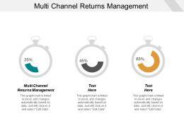 Multi Channel Returns Management Ppt Powerpoint Presentation Portfolio Show Cpb