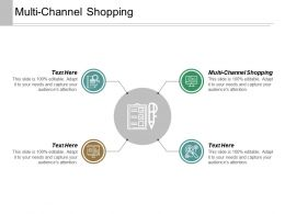 Multi Channel Shopping Ppt Powerpoint Presentation Inspiration Format Ideas Cpb