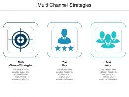 Multi Channel Strategies Ppt Powerpoint Presentation Model Deck Cpb