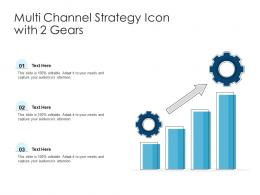 Multi Channel Strategy Icon With 2 Gears