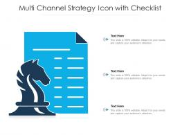 Multi Channel Strategy Icon With Checklist