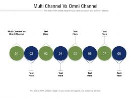 Multi Channel Vs Omni Channel Ppt Powerpoint Presentation Layouts Inspiration Cpb