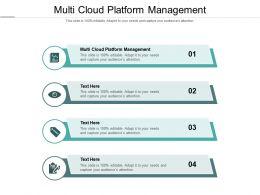 Multi Cloud Platform Management Ppt Powerpoint Presentation Inspiration Microsoft Cpb
