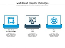 Multi Cloud Security Challenges Ppt Powerpoint Presentation Pictures Topics Cpb