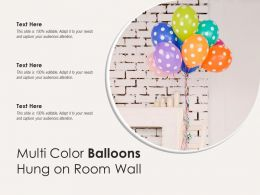 Multi Color Balloons Hung On Room Wall