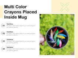 Multi Color Crayons Placed Inside Mug