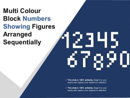 Multi Colour Block Numbers Showing Figures Arranged Sequentially