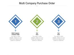Multi Company Purchase Order Ppt Powerpoint Presentation Slides Designs Download Cpb