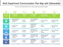 Multi Department Communication Plan Map With Deliverables