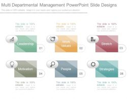 Multi Departmental Management Powerpoint Slide Designs