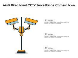 Multi Directional CCTV Surveillance Camera Icon