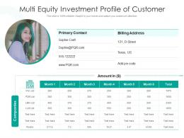 Multi Equity Investment Profile Of Customer