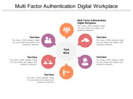 Multi Factor Authentication Digital Workplace Ppt Powerpoint Presentation Inspiration Samples Cpb