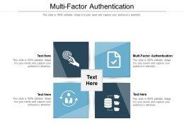 Multi Factor Authentication Ppt Powerpoint Presentation Pictures Professional Cpb