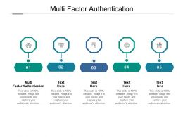 Multi Factor Authentication Ppt Powerpoint Presentation Summary Example Topics Cpb