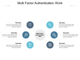 Multi Factor Authentication Work Ppt Powerpoint Presentation Model Summary Cpb