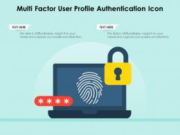 Multi Factor User Profile Authentication Icon