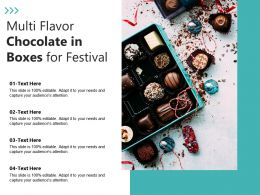 Multi Flavor Chocolate In Boxes For Festival