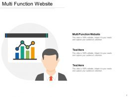 Multi Function Website Ppt Powerpoint Presentation File Design Ideas Cpb