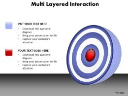 multi layered interaction with layers on circle powerpoint diagram templates graphics 712