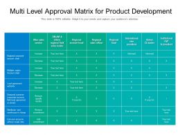 Multi Level Approval Matrix For Product Development
