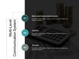 Multi Level Communication System Ppt Powerpoint Presentation Summary Background Images Cpb