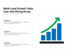 Multi Level Growth Table Icon With Rising Arrow