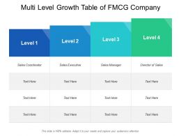 Multi Level Growth Table Of Fmcg Company