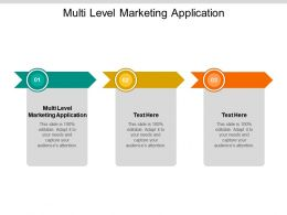 Multi Level Marketing Application Ppt Powerpoint Presentation Layouts Template Cpb
