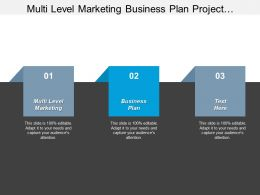 Multi Level Marketing Business Plan Project Management Governance Cpb