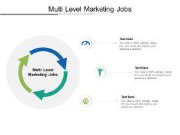 Multi Level Marketing Jobs Ppt Powerpoint Presentation Layouts Design Templates Cpb