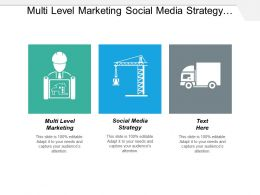 Multi Level Marketing Social Media Strategy Business Management Cpb