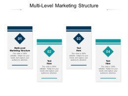 Multi Level Marketing Structure Ppt Powerpoint Presentation Inspiration Skills Cpb