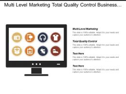 Multi Level Marketing Total Quality Control Business Intelligence